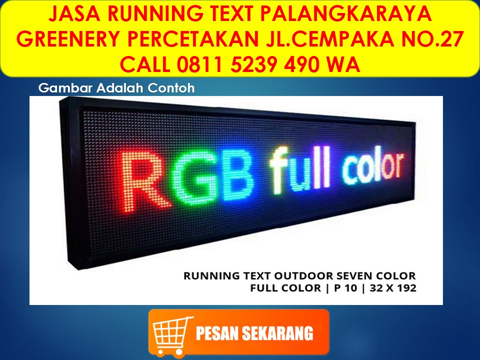 running text palangkaraya